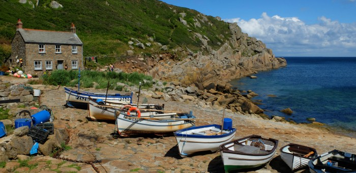 A 5 minute walk from the Logan Rock Inn is the small picturesque fishing cove, Penberth.
